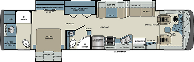 Legacy SR 340 Cl A Motorhomes by Forest River RV on forest river manuals, forest river mb wiring-diagram, 2006 silverado 2500hd brake system schematics, forest river parts,